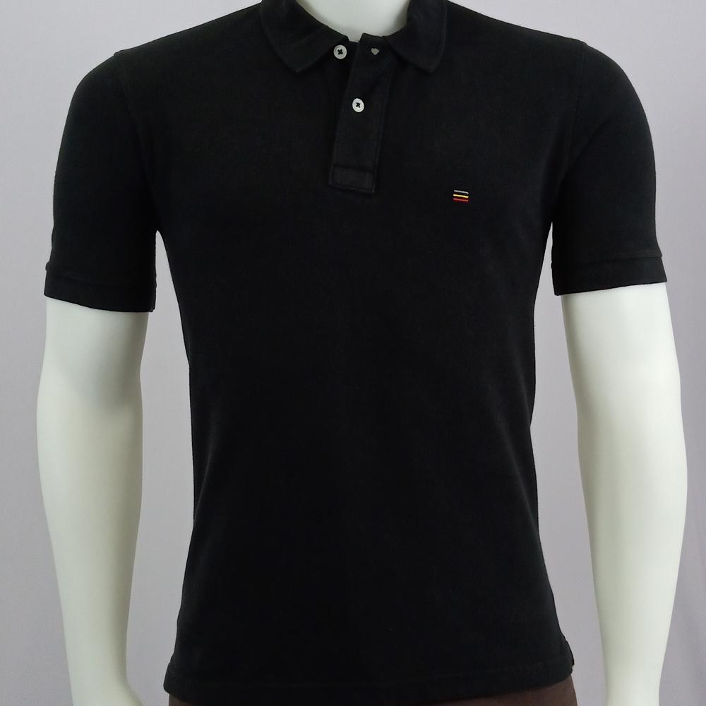 Camisa Polo com Peitilho Sobreposto de Malha Masculina - Decelo 5c2630f490d